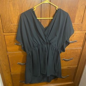 Black flowy plus size top